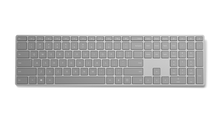 Microsoft Modern Keyboard keys layout view