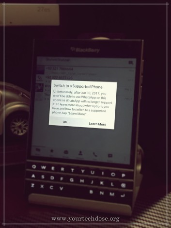 blackberry passport WhatsApp support