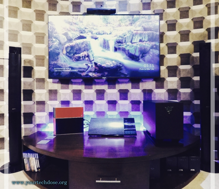 sony 4k UHD display with playstation