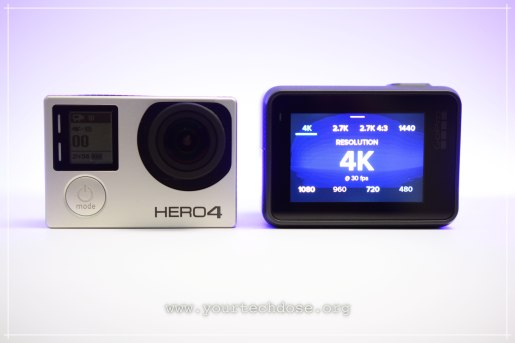GoPro Hero 4 and hero 5 4k video recording in high res