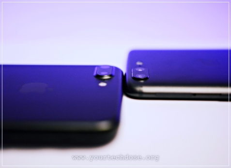 iPhone 7 Plus and OnePlus 5 Camera Closeup