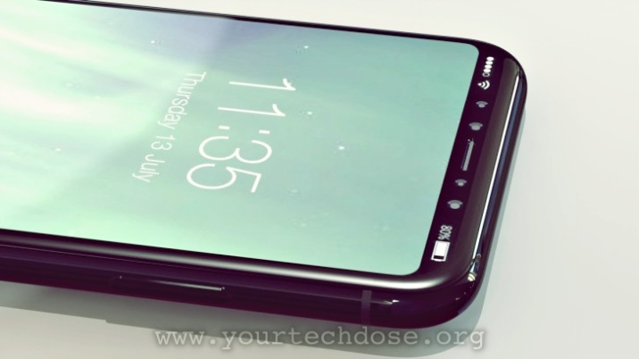 iPhone 8 Front Rendering with iris scanner