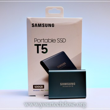 Samsung T5 500GB Packaging blue color