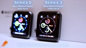 Apple Watch Series 3 vs Original Apple Watch Screen Brightness